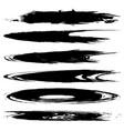 set dark blobs vector image
