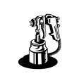 Spray gun viewed from a high angle vector image
