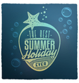 Summer Holidays Related Vintage Label vector image