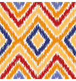Seamless geometric pattern ikat fabric style vector image vector image