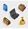 Sticker icon set for bags vector image