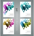 abstract geometric banner with triangle vector image