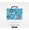 Color circles flat icons in a case shape vector image vector image