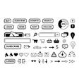 set of ellements for e-market web site vector image
