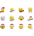 Christmas and New Year smile collection vector image