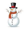 christmas snowman vector image