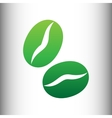 Coffee grains icon Green gradient icon vector image