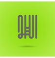 Graphic Line Font Logo Element Letter H vector image