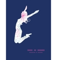 gray and pink lineart florals jumping girl vector image