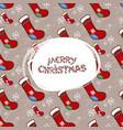 merry christmas socks pattern vector image