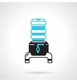 Portable water cooler jug flat icon vector image