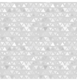 Seamless pattern of triangles gray background vector image