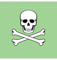 skull with flat style vector image