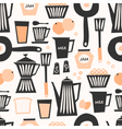 Seamless Breakfast Pattern vector image vector image