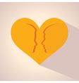 male and female face and symbol with heart vector image vector image