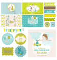 Baby Shower Stork Theme Set vector image vector image