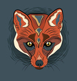 Artistic Fox face vector image