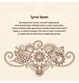 Floral henna indian mehndi card vector image