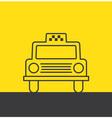 Taxi car vector image