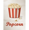 Grunge Cover for Fast Food Menu - Popcorn on vector image vector image