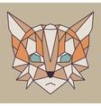 Beige and orange low poly cat vector image