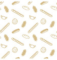 Edible pattern with bread rolls cookies cereals vector image