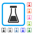 flask framed icon vector image