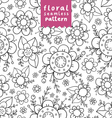Flowers doodle pattern vector image