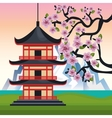 japan culture poster icon vector image