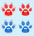 new year banner of dog paw vector image