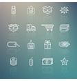 Shopping icons set on Retina background vector image