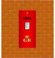Wall Mounted Post Box vector image