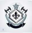 vintage emblem made in heraldic design and vector image