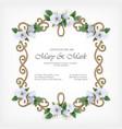 wedding decorative frame vector image