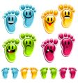 smiley feet vector image vector image