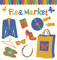 Flea market set vector image