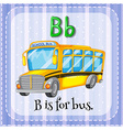 Flashcard letter B is for bus vector image vector image