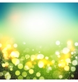 Abstract green bokeh background vector image