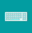 flat icon on background computer keyboard vector image