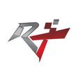 letter r t modern vector image