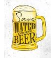 Poster drink beer vector image