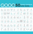 set of business conceptual thin line icons vector image