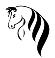 Head horse with beauty hair l vector image