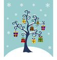 Christmas Tree decorated with gifts vector image
