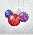 christmas balls set of isolated realistic vector image