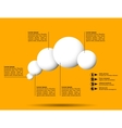 Infographics with group of flying white balls vector image