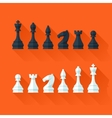 Chess figures set in flat modern style for design vector image