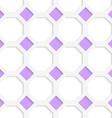 White 3D with colors purple diamonds vector image