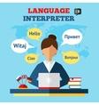 Language Translator vector image
