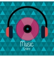 Music online graphic vector image
